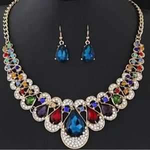 Women's Holiday Prom Wedding Statement Necklace